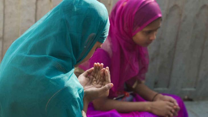 Scene from the Moinuddin Chishti Sufi shrine complex in Ajmer, northern India.