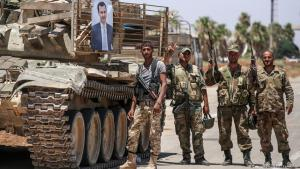 Assadʹs troops in Daraa province (photo: Getty Images/AFP)