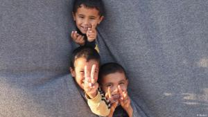 Syrian refugee children in Camp Bashabsha, close to the Jordanian town of Al Ramtha (photo: Reuters/Majed Jaber)