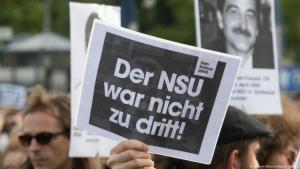 Protests following the NSU trial verdict (photo: dpa/picture-alliance)