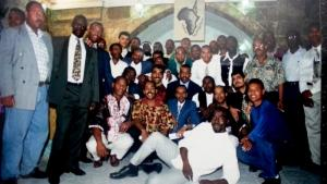 Opening of the African community centre in Jerusalem in 1996 attended by the author (photo: private)