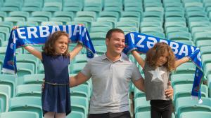 A family group in Baku stadium (photo: UNFPA in Azerbaijan)
