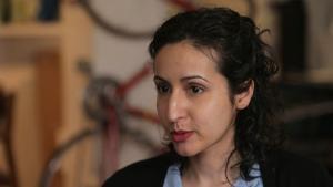 Afghan-Lebanese-American filmmaker Mariam Ghani (source: YouTube)