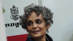 Arundhati Roy at the World Book Fair in Neu Delhi (photo: Dominik Muller)