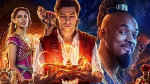 The new Aladdin film starring Will Smith, Mena Massoud, Naomi Scott, Marwan Kenzari, Nasim Pedrad (source: YouTube; film trailer)