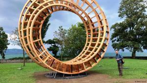 Gisbert Baarmann's Ring for Peace in the Luitpold Park, Lindau, Germany (photo: DW/C. Strack)