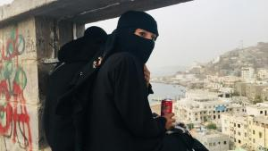 Veiled: DW correspondent Fanny Facsar in Yemen (photo: DW)