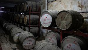 Barrels of whisky in the cellars of the Murree Brewery in Rawalpindi, Pakistan (photo: Philipp Breu)