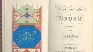 First edition of the West-Eastern Divan (photo: Goethe Museum in Dusseldorf