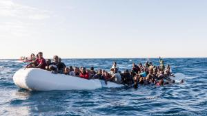 African migrants off the Libyan coast on 27.01.2018 (photo: picture-alliance/dpa)
