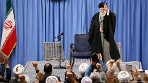 Ayatollah Ali Khamenei attends a rally in Tehran at the beginning of January 2020 (photo: Reuters)