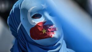 Uiguren protestieren in Istanbul gegen die Unterdrückung ihrer Angehörigen in China; Foto: AFP/Getty Images