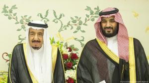 King Salman (left) and Crown Prince Mohammed bin Salman (photo: picture-alliance/abaca/B. Algaloud)