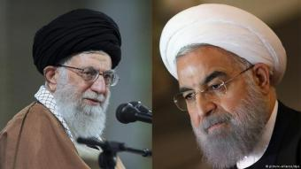 Iranʹs leadership elite: Ayatollah Khamenei (l.) and President Rouhani (photo: picture-alliance/dpa)