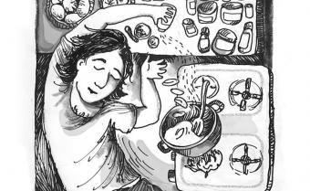 From the Quarantine Kitchen series by Golrokh Nafisi (source: scenearabia.com)
