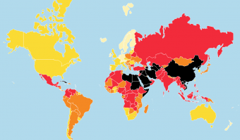 Reporters Without Borders: 2020 World Press Freedom Index (source: rsf.org)
