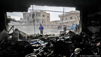 Devastation in Idlib (photo: Getty Images/O. H. Kadour)